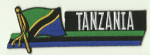 Tanzania Embroidered Flag Patch, style 01.